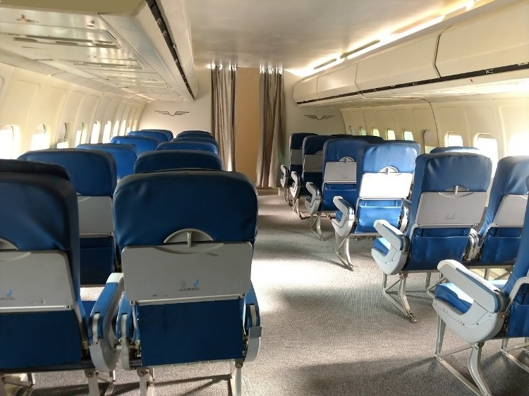Airplane interior for filming