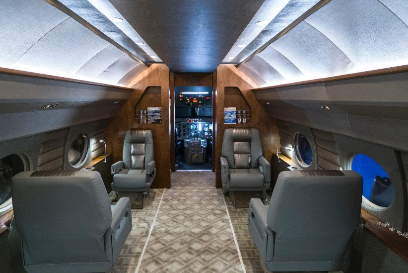 Luxury Jet mock-up for filming, Gulfstream G4 mockup, G4 Jet for rent, G4 Jet for filming