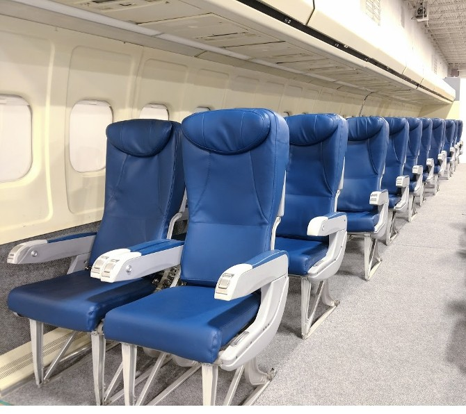 Airplane Seats - Business Class - Blue Leather