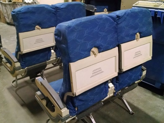 RJR Props - Airplane Seats - Blue Fabric