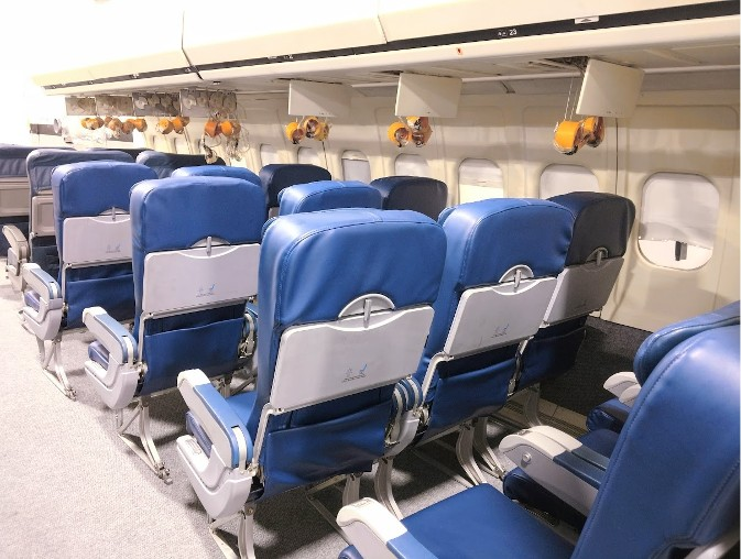 RJR Props - Mockup Airplane Interior - with Oxygen masks