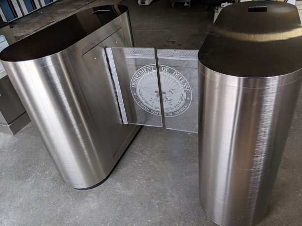 RJR Props - Electronic turnstile gate, stainless steel electronic turnstile gate