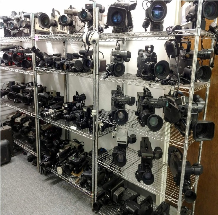news camera collection, ENG Camera collection, News cameras for rent, Prop news cameras,