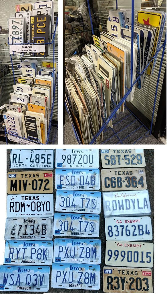 Prop License Plates, Cleared Licence Plates, License plate props