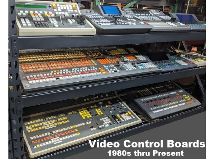 Video mixing board props, Video Editing board props, Video Chyron props, Video switcher props