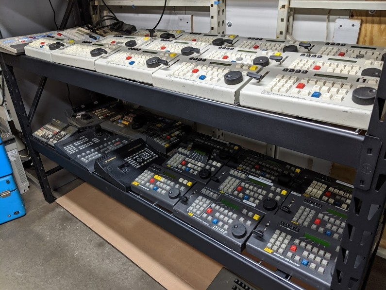 Broadcast television props, video control boards,